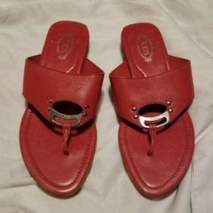 Tod's red sandals